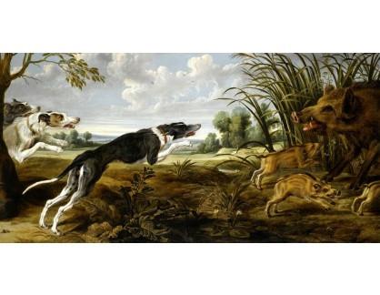 VP417 Paul de Vos - Krajina se psy a divokými prasaty