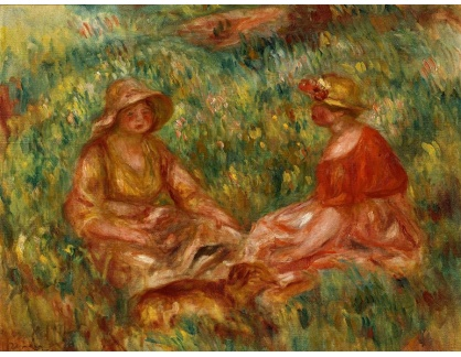 KO III-347 Pierre Auguste Renoir - Dvě dívky na louce