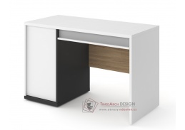 VENIDI 09, pracovní stůl, bílá / světle šedá / grafit / salisbury