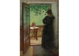 D-8530 Jakub Schikaneder - Žena mezi dveřmi