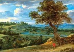 D-9469 Jacques d Arthois - Rozsáhlá krajina s hradem