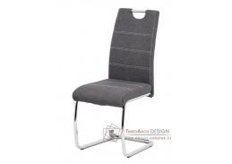 HC-482 GREY2, jídelní židle, chrom / látka šedá
