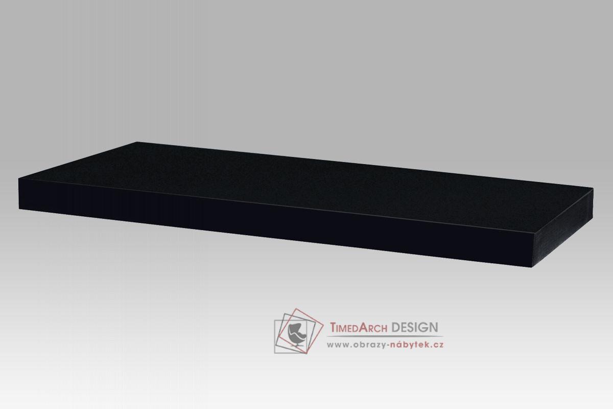 Nástěnná polička 120cm P-002 BK barva vysoký lesk černý