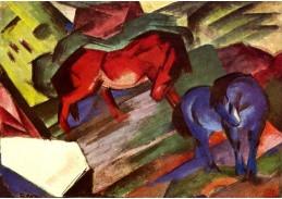 Obraz VFM 16 Franz Marc - Červený a modrý kůň
