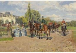 Slavné obrazy XIII-461 Wilhelm Velten - Na lov