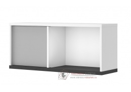 VENIDI 10, závěsná skříňka, bílá / světle šedá / grafit