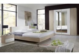 MIRABEL 323, ložnicová sestava nábytku, dub / bílá