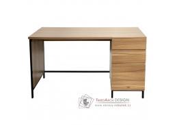 ALYSANDRA 3, psací stůl, černá / dub