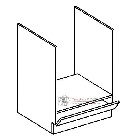 Dolmí skříňka na vestavnou troubu DK60 PREMIUM de LUX olše