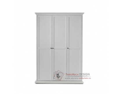 PARIS 75353, šatní skříň 140cm, bílá