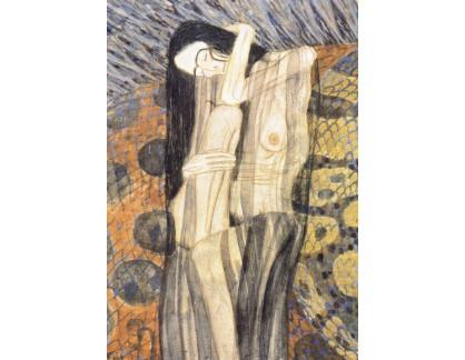 VR3-56 Gustav Klimt - Hlodavá bolest, detail