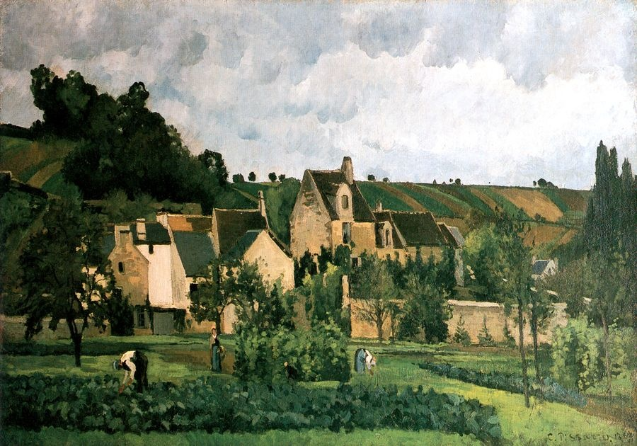 Obraz VCP-443 Camille Pissarro - L Hermitage v Pontoise