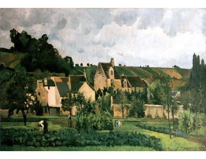 VCP-443 Camille Pissarro - L Hermitage v Pontoise