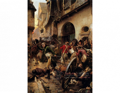 VF312 Paul-Emile Boutigny - Henri La Rochejacquelein v bitvě u Cholet v roce 1793