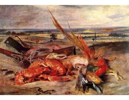 VEF 29 Eugene Ferdinand Victor Delacroix - Zátiší s humry