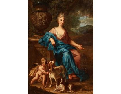Slavné obrazy I-DDSO-335 Peter Sperwer - Alegorický portrét madame de Montespan
