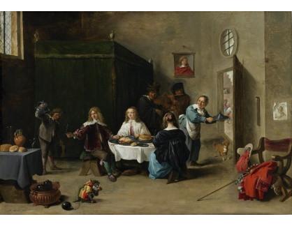 Slavné obrazy XVI-451 David Teniers - Návrat ztraceného syna
