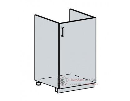 ANASTASIA, dolní skříňka pod dřez 1-dveřová 50DZ, bílá / bříza