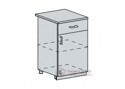 PRAGA, dolní skříňka 1-dveřová se zásuvkou 50D1S, bílá