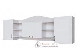 AKVAREL, závěsný regál 3D, jasan angkor světlý / bílá
