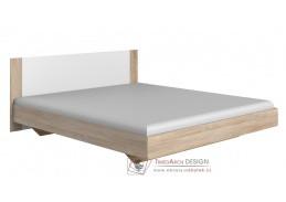 MIRABEL 351, postel 160x200cm, dub / bílá