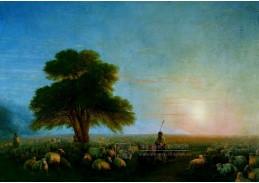 DDSO-3626 Ivan Aivazovskij - Pastýři s stádo ovcí