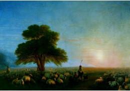 DDSO-3626 Ivan Konstantinovič Ajvazovskij - Pastýři s stádo ovcí