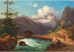 D-5843 Edmund Mahlknecht - Pohled na Dachstein