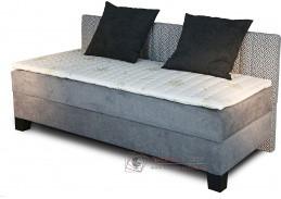NOVO, čalouněná postel - boxspring 80x200cm, čelo u boku