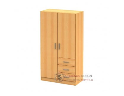 NENA 1, šatní skříň 96cm, buk