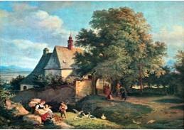 VN-10 Adrian Ludwig Richter - Kostel svaté Anny u Krupky