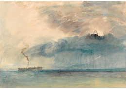 Joseph Mallord William Turner - Kolesový parník v bouři