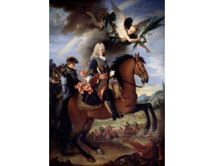 VF285 Jean Ranc - Jezdecký portrét Filipa V krále Španělska