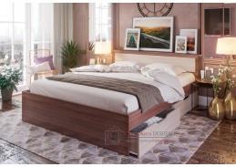 HARMONIE KP604, postel se zásuvkami 160x200cm, jasan šimo tmavý / jasan šimo světlý