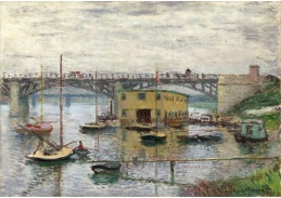 D-7077 Claude Monet - Most v Argenteuil za šedivého dne