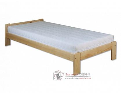KL-123, postel 80x200cm, borovicový masiv