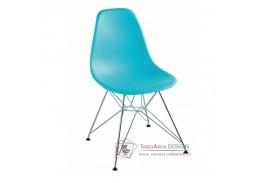 ANISA NEW, jídelní židle, chrom / plast mentolový