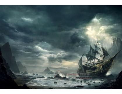 VL124 Neznámý autor - Ztroskotaná loď