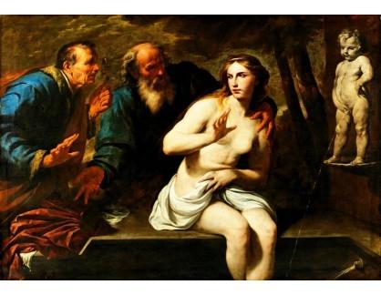 Slavné obrazy II-DDSO-445 Andrea Vaccaro - Susanna a starší