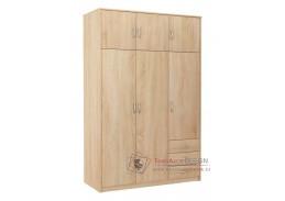 VIKA, šatní skříň 6D3SZ 127cm, dub sonoma
