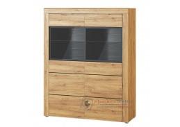 KAMA, 15 vitrína 2-dveřová, dub camargue / černá