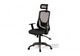 KA-A186 BK, kancelářská židle, látka mesch černá