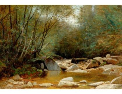 Slavné obrazy IX DDSO-659 Gustave Castan - Lesní potok