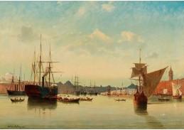 DDSO-1515 Anton Melbye - Pohled na přístav v Istanbulu