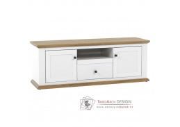 LEON MZ15, televizní stolek, bílá / dub grand