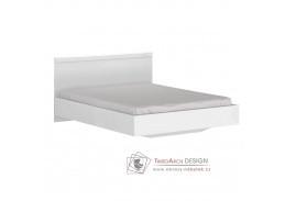 LINDY, postel 160x200cm, bílá / bílý lesk