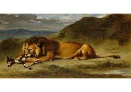 D-8339 Eugene Delacroix - Lev požírající kozu