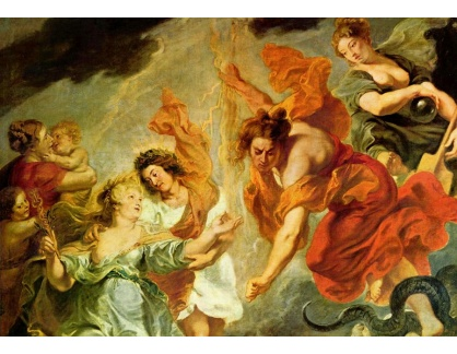 VRU140 Peter Paul Rubens - Smíření Ludvíka a Marie, detail
