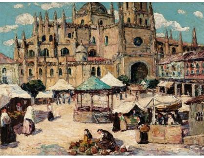 KO III-115 Ernest Lawson - Tržní náměstí v Segovia ve Španělsku