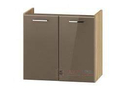 DUNDALK, skříňka pod umyvadlo 2-dveřová DUM VEA 64, dub artisan / béžový lesk